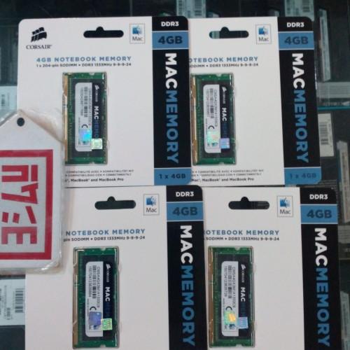 Foto Produk CORSAIR Memory SODIMMs Notebook   4 GB DDR3 PC 10600 For MacApple dari EVERYTHING4U