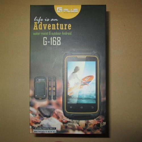 Foto Produk Hape Outdoor Android Gplus G168 G-168 Adventure Dual SIM Water Resist dari CNC phoneshop
