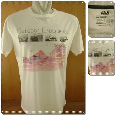 Foto Produk Jack Wolfskin Mossburn OC T-Shirt White Original dari Serba Original