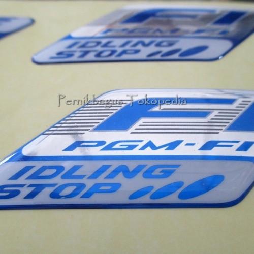 Foto Produk Stiker Emblem PGM-Fi FI ISS Idling Stop Logo 100% Original HGP Honda dari Pernik Bagus