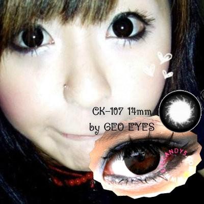 Foto Produk Softlens Geo Magic Black CK-107 14mm dari Geo Eyes