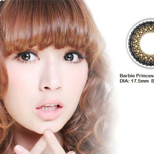 Foto Produk Softlens Barbie Eye Princess Brown (Coklat kekuningan) dari Geo Eyes