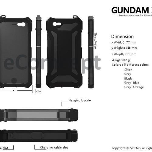 Foto Produk Alumunium+Silicon case (bonus anti gores tempered glass) for iPhone 6 dari Elenna-Store