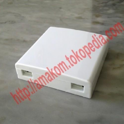 Foto Produk Roset Optik FTTH / Indoor Optical Outlet 2 Core SC Box dari AMAKOM MEDIA KOMUNIKA