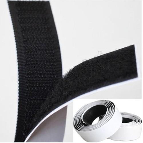 Foto Produk 1 Rolls Strong Self Adhesive Velcro Hook Loop Tape Fastener 1m Black dari Aneka Hobby