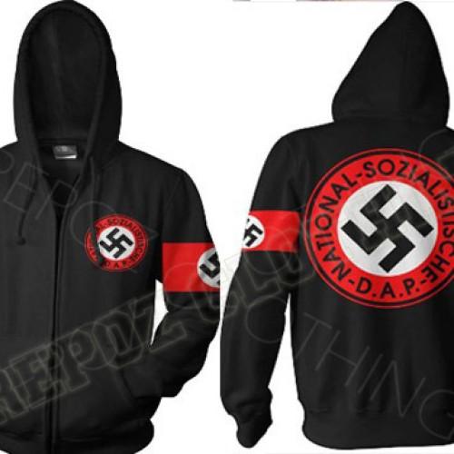 Foto Produk JAKET HOODIE JUMPER ZIPPER NAZI NSDAP TERBARU TERKEREN TERMURAH dari REPOZ CLOTHING