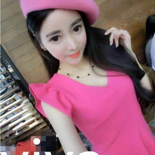 Foto Produk ID-HQ 8758 Back Bow Dress (PINK size S) dari allbee shop
