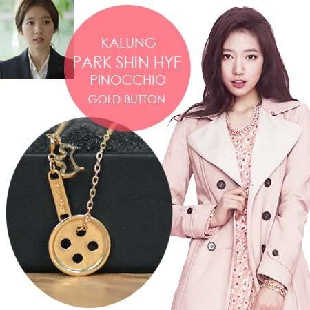 Foto Produk Kalung Pinocchio Gold Button Park Shin Hye dari Koreanholicshop