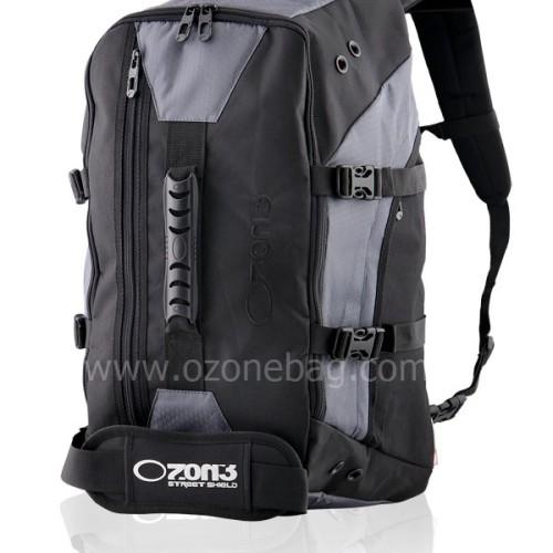 Foto Produk Ransel TRAVEL Multifungsi OZONE 304 + Raincoat OZONE STREET SHIELD [ABU TUA] dari Osmose Bag