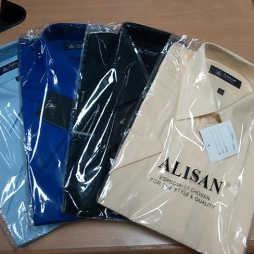Foto Produk Kemeja Alisan Polos PENDEK (Cek Katalog Warna) dari Alisan CyberStore