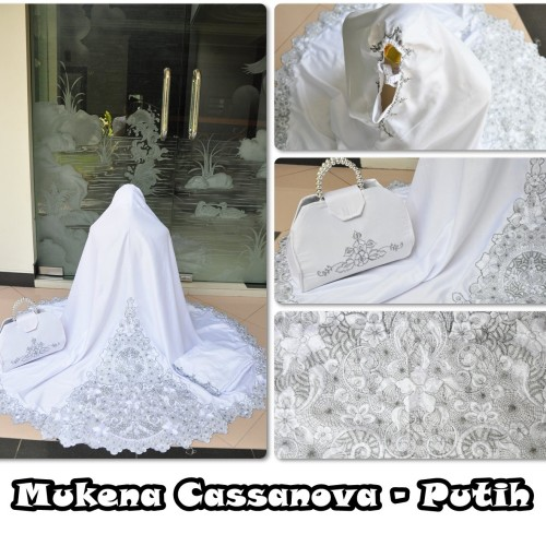 Foto Produk MUKENA CASSANOVA PUTIH dari Pusat Mukena Indonesia