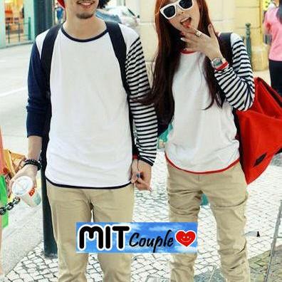 Foto Produk Kaos Couple lengan panjang  / Baju Pasangan dari Grosir Baju Couple :)