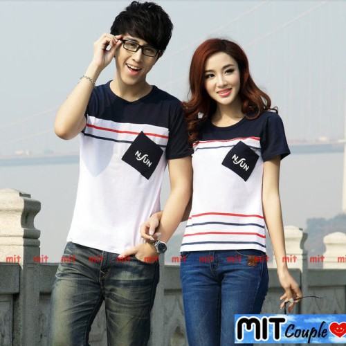 Foto Produk Kaos Couple Nsun Lengan Pendek / Baju Pasangan dari Grosir Baju Couple :)