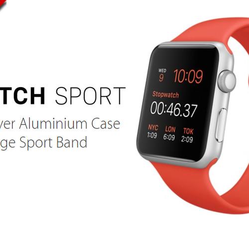 Foto Produk Apple Watch 42mm Silver Aluminum Case With Orange Sport Band dari JUALGADGETS