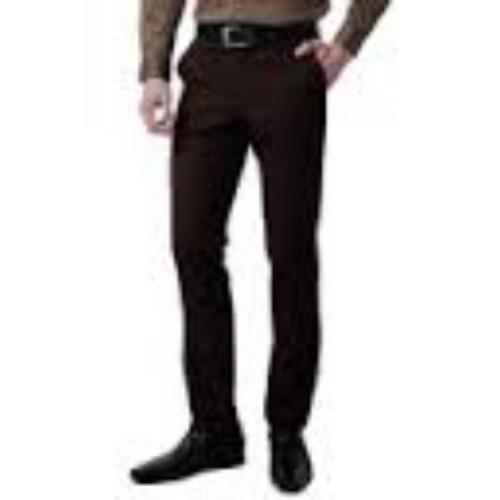 Foto Produk celana formal pria slimfit dark brown dari tokosaudara