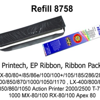 Foto Produk Printech Ribbon pack refill # 8758 for LX 300 / LX 800 (pita printer) dari officemart