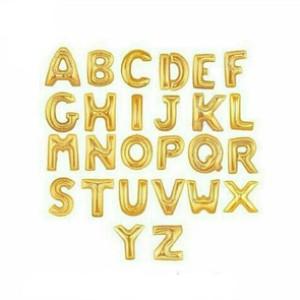 Foto Produk Balon Foil Huruf A-Z dan Angka 0-9 warna Gold dari Balonku Shop