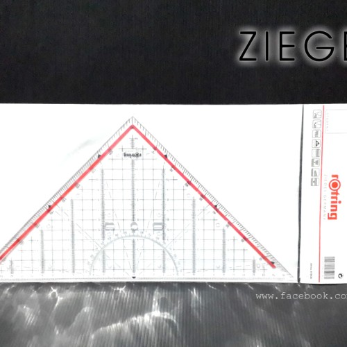 Foto Produk Ziegel - Penggaris Segitiga Pegangan dari eLs_shop