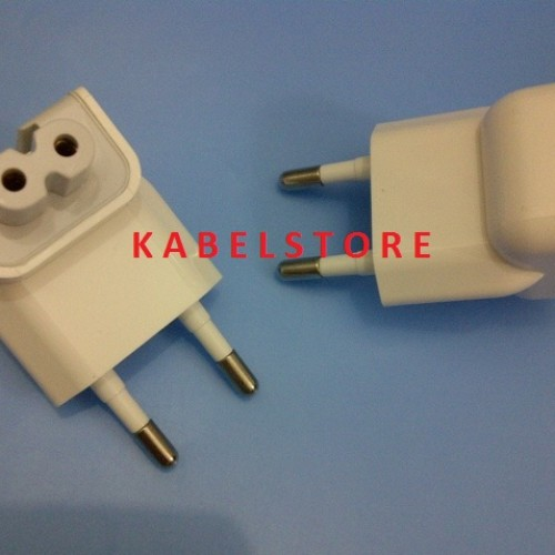 Foto Produk AC PLUG Ipad 1 2 3 4 Adaptor Macbook Ujung kepala kaki 2 colokan Apple dari Kabel Store -KabelApple