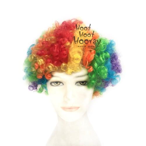 Foto Produk Wig Kribo WARNA WARNI (RAINBOW)/ Wig Badut / Wig Cosplay/Rambut PalsU dari Hoot Hoot Hooray