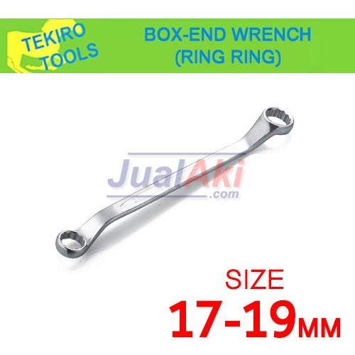 Foto Produk TEKIRO Kunci Ring Ring 17x19 - Box End Wrench (Ringring) dari JualAki