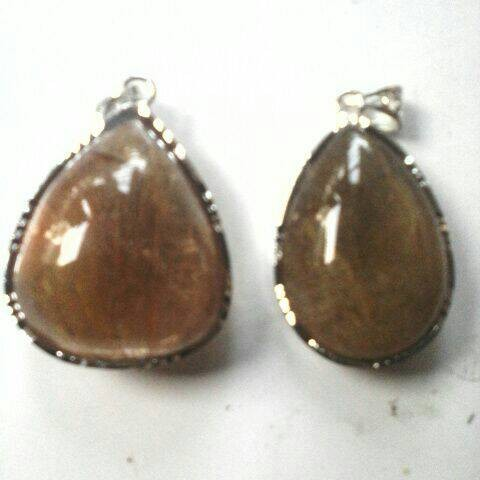 Foto Produk liontin batu serat cendana emas super dari wildan-store