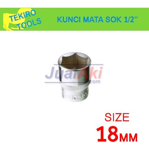 """Foto Produk TEKIRO 18mm 1/2"""" - Mata Kunci Sok (Socket Wrench) dari JualAki"""