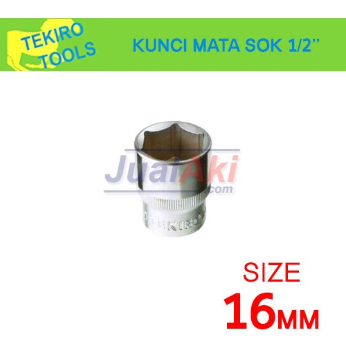 """Foto Produk TEKIRO 16mm 1/2"""" - Mata Kunci Sok (Socket Wrench) dari JualAki"""