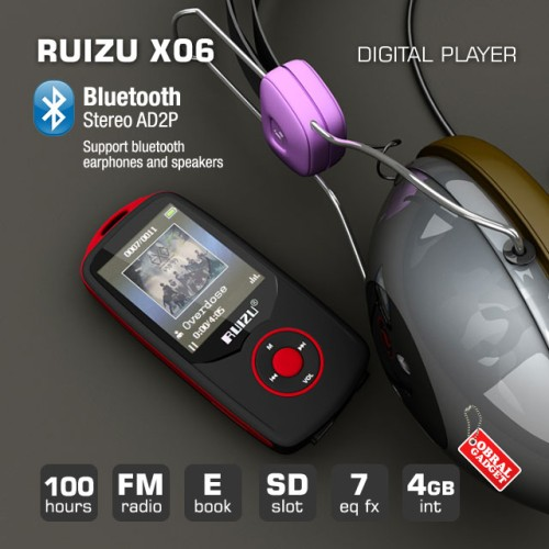 Foto Produk RUIZU X06 Digital Audio MP3 MP4 Video Player High Quality Lossless SQ - Biru dari Obral Gadget