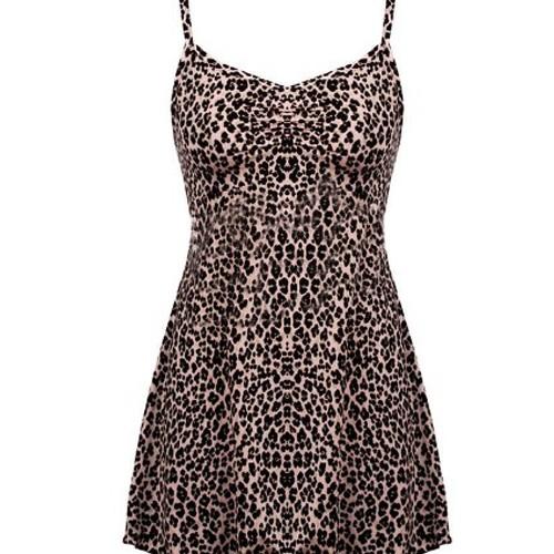 Foto Produk Lingerie AMITIE Soft Pink Black Leopard Print dari Rumah Flanel Kita