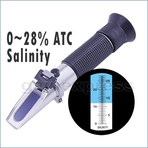 Foto Produk Refractometer Salt Salinity 0-28% - Ukur kadar garam dari HRDIK