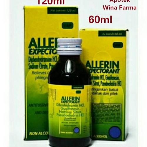 Foto Produk Allerin Expetorant Sirup 120ml dari MeJiKu Shop