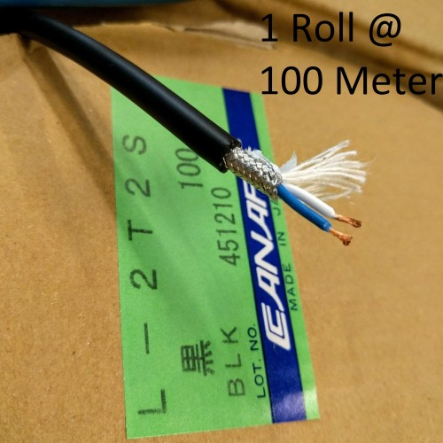 Foto Produk CANARE L-2T2S (ORIGINAL JAPAN) 1roll @100meter / HITAM dari Indostuff