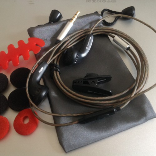 Foto Produk DIY Earbud Sennheiser MX500 Earphone+Mic Upgrade Version Bass Headset dari Onebest Choice