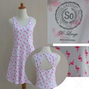 Foto Produk Dress motif flaminggo    original branded dari toko super murah