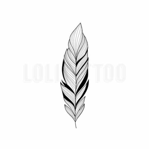 Foto Produk Lolitattoo Temporary Tattoo Simple Feather dari Lolitattoo Shop