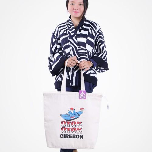 Foto Produk Premium Canvas Tote Bag BC0307 Otok-Otok dari KamehaShop.com