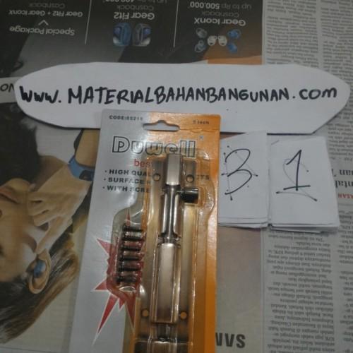 Foto Produk Kunci Pintu Grendel Press 5 Inch Besi Kuning Duwell Pengunci Pintu dari Toko Citra Bangunan