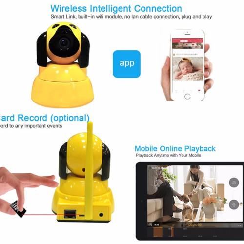 Foto Produk CCTV IP Camera Wifi P2P HD 720p, Yoosee, Wirelesss Baby Monitor puppy dari Elenna-Store
