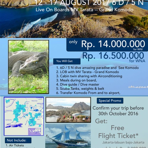 Foto Produk Dive Trip To Komodo with Cash Back 12-17 Aug 2017 dari JalanPintar