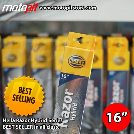 "Foto Produk Wiper Hella Razor Hybrid 16"" dari Motopit"