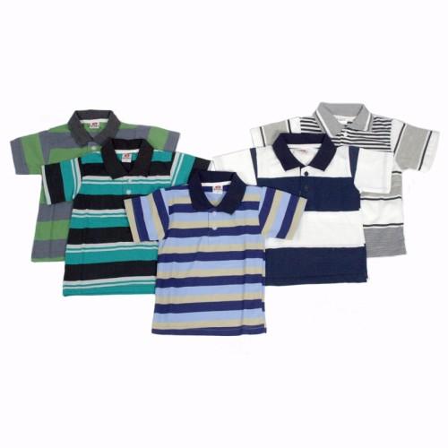 Foto Produk Kaos Kerah (Polo) Anak Salur Bergaris Murah, 4 - 5 tahun dari Grone