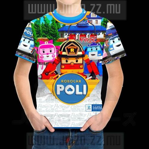 Foto Produk Baju Anak Kartun Karakter Poli Robo Car 2 dari Jinzo Series