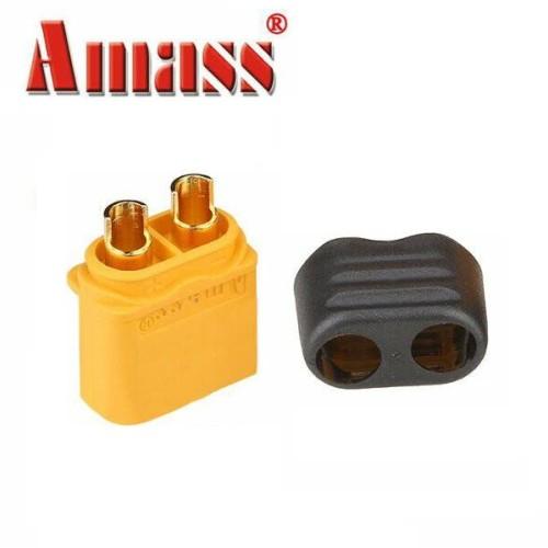 Foto Produk Amass XT60+ Plug Connector With Sheath Housing Male XT60 dari TokoHELI
