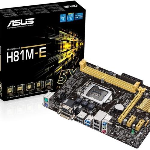 Foto Produk Mainboard ASUS H81M-E, DDR3 Socket 1150 Diskon(SO) dari sumber rejeki1