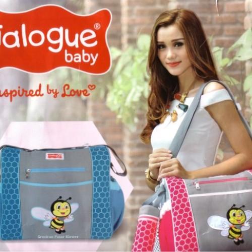 Foto Produk Tas Perlengkapan Bayi Besar Simple Embro Dialogue Bee Series DGT 7121 dari Grosir Pasar Klewer Solo
