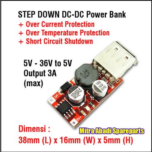 Foto Produk Kit Power Bank XL2001-5V Modul Step Down DC-DC 5-36V to 5V Max. 3A dari Mitra Abadi Spareparts