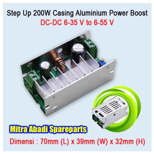 Foto Produk Step Up DC Booster 6-35V to 6-55V 200W/200 Watt Max. 7A Aluminium dari Mitra Abadi Spareparts
