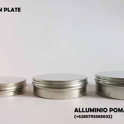 Foto Produk Kaleng Pomade Silver (Silver Tin Plate Pomade) dari Alluminio Pomade Inc.
