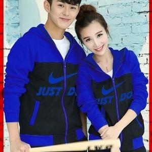 Foto Produk Jaket Couple / Baju Pasangan / jacket couple nike biru muda biru tua dari Grosir Baju Couple :)